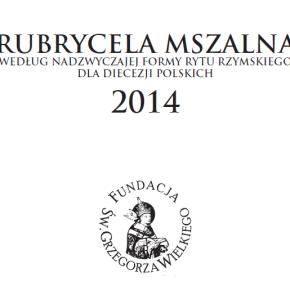 Rubrycela mszalna 2014