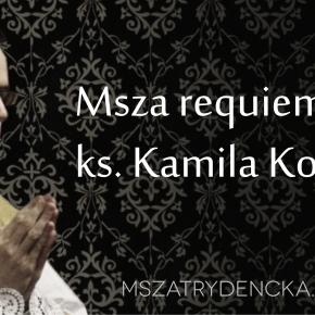Msza requiem za ks. Kamila Kowalczyka