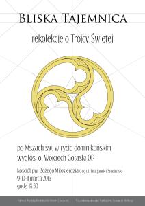 plakat rekolekcje wielkopostne 2016 SOP vost